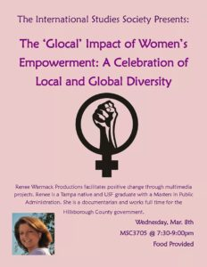 Renee Warmack Speaking Engagement - The 'Glogal' Impact of Women's Empowerment: A Celebration of Local and Global Diversity - The International Studies Society